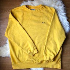 Nike Yellow Crewneck Long Sleeve Pullover